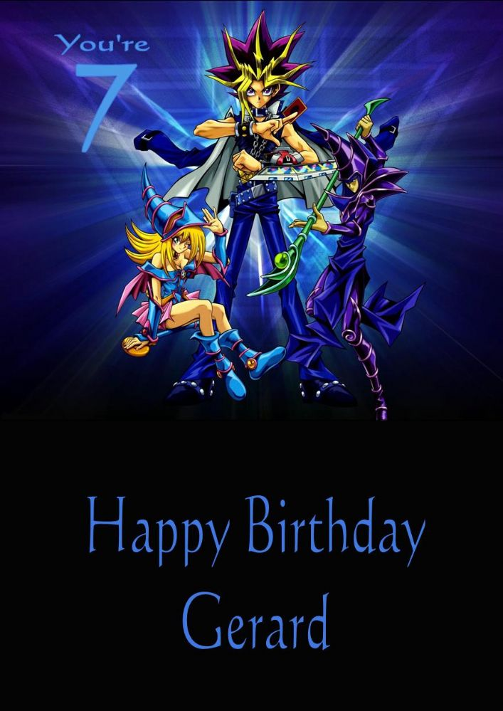 Personalised Yu Gi Oh Birthday Card